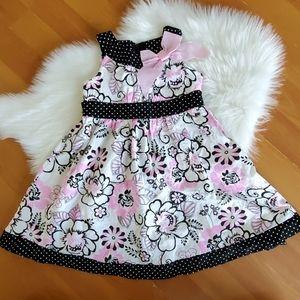 ❤Kidgets toddler girls pink black floral sundress